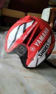 Helmet shoei team yamaha racing red