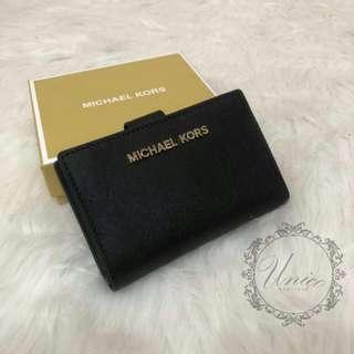 💯 Authentic Michael Kors Women's Jet Set Bifold Wallet