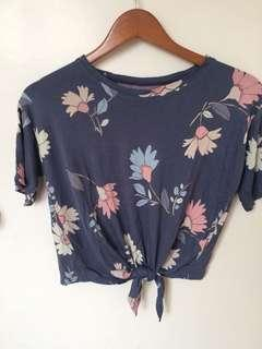 Floral Top with Tie