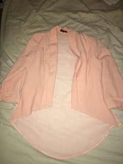 Peach light jacket with sheer back
