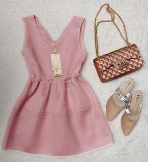 minidress pink nets