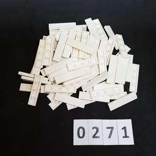 LEGO *Code 0271* Assorted Parts 80 pcs (White) - NEW