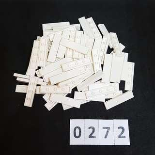 LEGO *Code 0272* Assorted Parts 80 pcs (White) - NEW