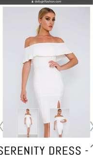 White off shoulder dress BNWT