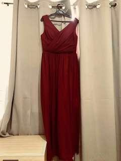 Burgundy Gown for RENT