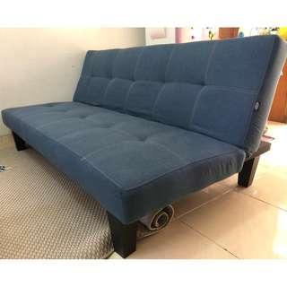 Sofa Bed Navy Blue Ginie Informa