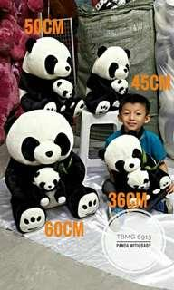 Panda with baby 36cm