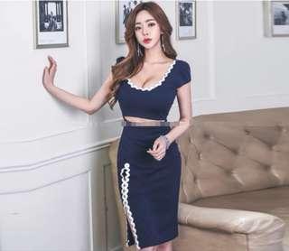 Trendy korean dress