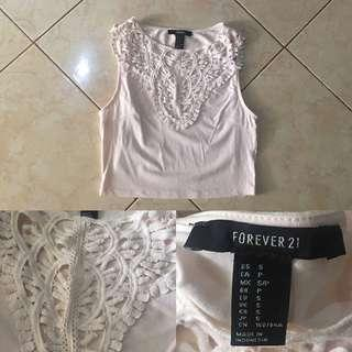 FOREVER21 Pastel Pink Crop Top