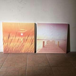 Wall pictures 2 pieces 47 X 47 cm.