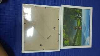 Frame kayu putih 8R bingkai
