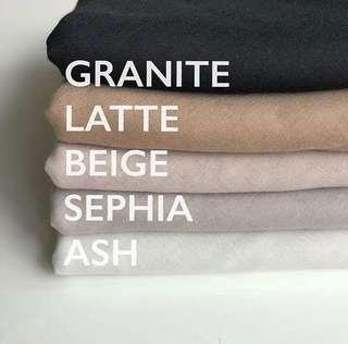 Mahkotaku safa bawal - ash/light grey