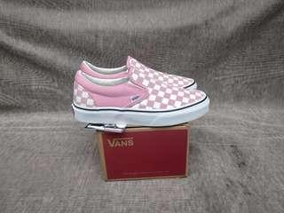 Vans Slip-On Checkerboard Pink White