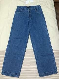 Denim high waist pants
