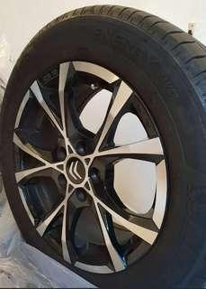 """Selling cheap! 16"""" Rim and tires. Original OZ and Michelin(Germany) PCD 108, 205/60/16"""""""