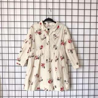 🚚 Bonpoint 法國🇫🇷品牌 女童小紅花洋裝 🎈九成新🎈剪標