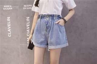 [INSTOCKS] Double Button Paper Bag Shorts