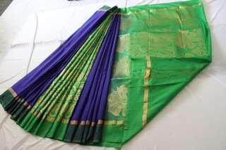 Cotton and silk  Saree