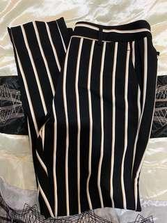 Striped work pants