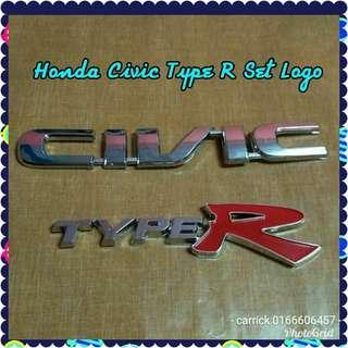 Honda civic set logo