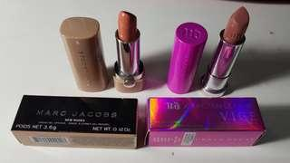 Marc jacobs new nude and ud x kristen leanne vice lipsticks