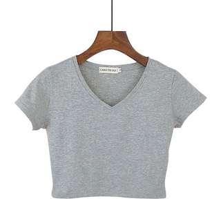 [PO] v neck crop top