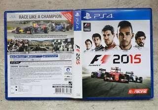 Selling Cheap! Playstation PS4 Games F1 formula 1 2015