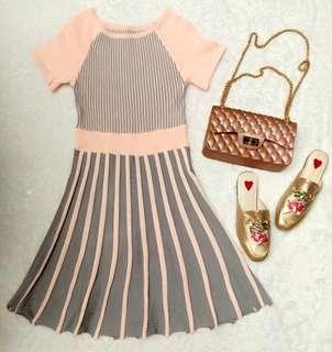 dress peach line