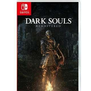 Brand New Dark Souls Remastered + Dark Souls Firgurine Nintendo Switch