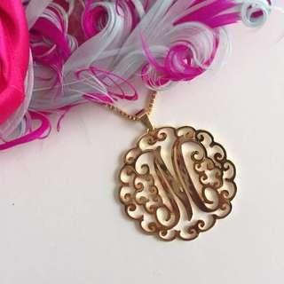 Non Tarnish Personalized Monogram Necklace