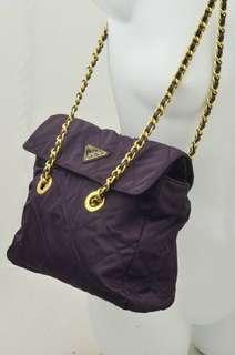 Authentic Prada Quilted Nylon Chain Bag