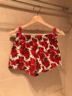 Uniqlo Rose print shorts
