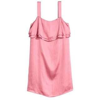 H&M pink dress can fit S - M size