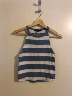 Blue striped Halter top