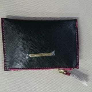 Pierre Cardin Black Coins & Card holder with keyring strap