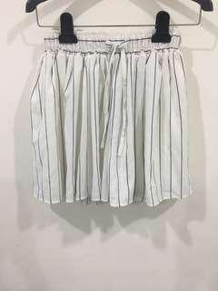 🚚 全新雪紡直條褲裙 有內裡不透