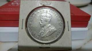 1920 George V Straits Settlements one dollar