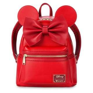 [PO] Disney Minnie Mouse Mini Backpack by Loungefly - Red
