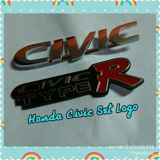 Honda civic emblem 2 logo