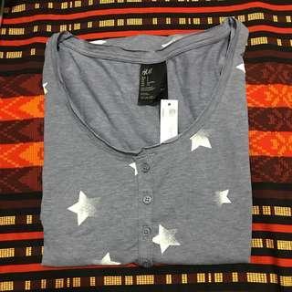 H&M Star-Pattern Lightweight Dress/Jumper (Light Grey)