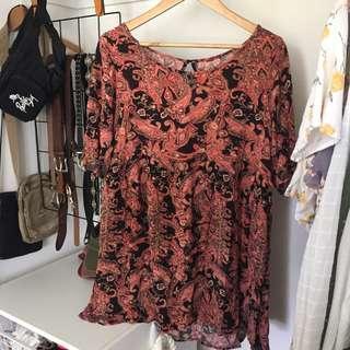 Boho print summer dress