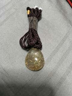 发晶吊坠(带绳子)