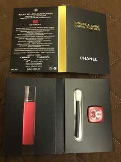 最新Chanel  Rouge Allure Liquid Powder (顏色: 956 Invincible) 試用裝 0.40ml (如圖),現售每枝$20。「請勿議價」。  茘枝角交收(其他地點,日期時間互就)或另加郵寄費每枝$4.0(郵寄不包風險)。