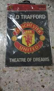 Hand Made Manchester United Enamelled Metal Wall Sign
