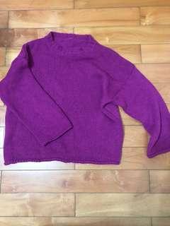 🚚 全新莓果色保暖針織毛衣