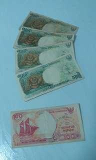 Indonesia Old Currency. 1992
