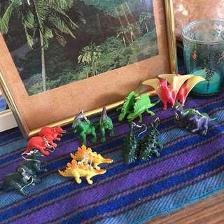 FREE POSTAGE Cute lil handmade dinosaur earrings
