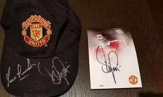 Signed Man Utd cap Denis Irwin