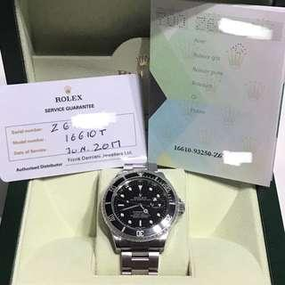 [FULL SET + RSC Warranty] Rolex Submariner 16610 Z Series