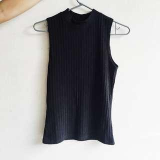 Cotton on black ribbed tank top